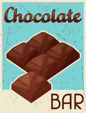 Poster with chocolate bar in retro style Stock Photography