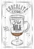 Poster chocolate milk Stock Photography