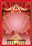 Poster christmas circus city show royalty free stock photo