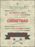 A poster with christmas wishes. Design for greeting card and happy holiday Stock Photography