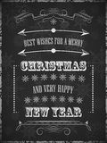 A poster with christmas wishes. Design for greeting card and happy holiday Royalty Free Stock Images