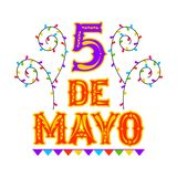 Poster of cinco de mayo stock illustration