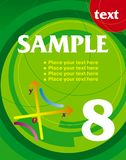 Poster with a circle. Poster with a red circle Royalty Free Stock Photo