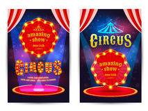 Poster for the circus. royalty free illustration