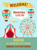 Poster Circus is coming to town Royalty Free Stock Image