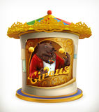 Poster of circus, funny animals Royalty Free Stock Photos