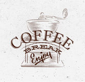 Poster coffee break brown Stock Photography