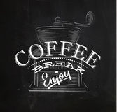 Poster coffee break Royalty Free Stock Photography