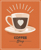 Poster with a coffee cup. Vector Royalty Free Stock Image