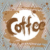 Poster with  coffee stain. Design template. Vector Stock Images