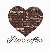 Poster with coffee tags. Stock Photos