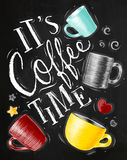 Poster coffee time chalk Royalty Free Stock Photography