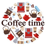 Poster Coffee Time Royalty Free Stock Photography