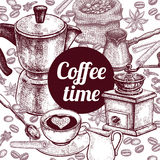 Poster `Coffee Time` Stock Images