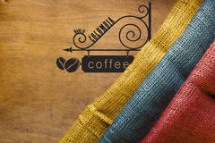 Poster Colombian coffee Royalty Free Stock Photography
