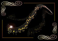 Poster for Music - Vector vector illustration