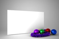 Poster with colourful christmas decorations Stock Photos
