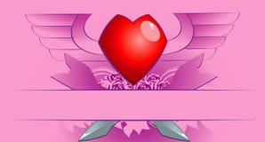 Poster com coração ilustração royalty free