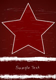 Poster com estrela vermelha Fotografia de Stock