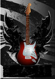 Poster com guitarra Foto de Stock Royalty Free