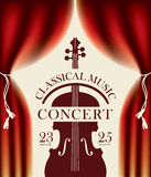 Poster for a concert of classical music Royalty Free Stock Images