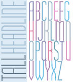 Poster condensed colorful light font, striped compact aerial upp Stock Photography