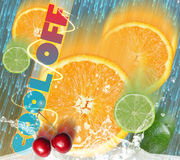 Poster for cool refreshments Royalty Free Stock Photography