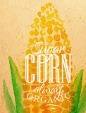 Poster corn Stock Image