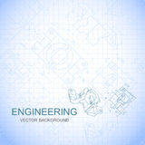 Poster, cover, banner, background of engineering drawings of parts. Notebook sheet. Vector Royalty Free Stock Photos
