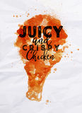Poster crispy chicken Stock Images