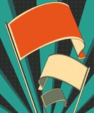 Poster da bandeira da volta ilustração do vetor
