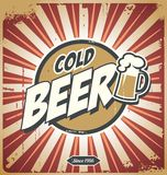 Poster da cerveja do vintage ilustração royalty free