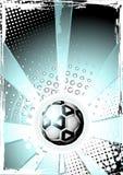 Poster da esfera de futebol Fotos de Stock Royalty Free
