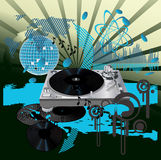 Poster da música. DJ Imagens de Stock