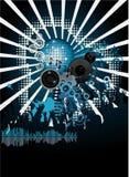 Poster da música. DJ Imagens de Stock Royalty Free