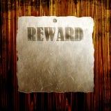 Poster da recompensa ilustração royalty free