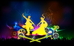 Poster for Dandiya night Royalty Free Stock Photo