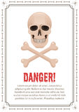 Poster of danger with skull and crossbones Stock Photography