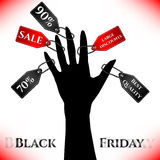 Poster for day of Black Friday. Great sale, large discounts Royalty Free Stock Photo