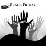 Poster for day of Black Friday. Great sale, large discounts Stock Images