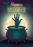 Poster de Halloween Imagem de Stock