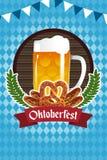 Poster de Oktoberfest Imagens de Stock