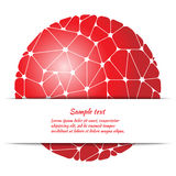 Poster design with abstract pattern and space for text. Stock Images