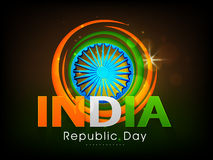 Poster design with ashoka wheel for Indian Republic Day celebrat Royalty Free Stock Photography