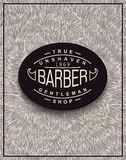 Poster design for Barbershop Royalty Free Stock Photos