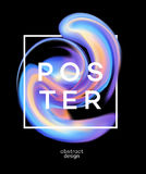 Poster design with colored fluid. Vector illustration Royalty Free Stock Photography