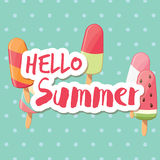 Poster design with colorful glossy ice cream Stock Photo
