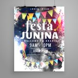 Poster design for festa junina invitation Royalty Free Stock Photos