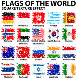Poster design with flags of the world Stock Image
