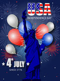 Poster design for Fourth of July Independence Day Royalty Free Stock Photography